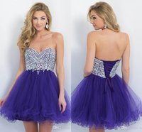 Cheap 2017 Cheap Short Homecoming Dresses Party Prom Graduation Gown Cocktail With A Line Sweet-heart Beads Crystal Corset Regency Tulle