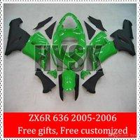 Wholesale Glossy Green Ninja ZX R Motorbike Fairing Body Kits Of Kawasaki Ninja ZX6R ZX R ABS Fairings Molded