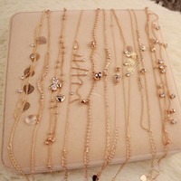 Wholesale fashion New Sexy rose Double Layer Copper Beach Sandal Ankle Chain Anklet Foot Bracelet