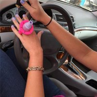 Wholesale Silicone Finger Wearable Nail Gel Polish Bottle Holder with Ring Creative Nail Art Tools Polish Varnish Bottle Display Stand Holder