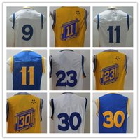 Wholesale 18pcs Finals Patch Available Basketball Jersey White Blue Yellow Orange Stitched