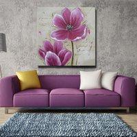 acrylic paint for sale - Home Decoration beaitiful red flower wall art oil painting acrylic pictures on canvas for sale