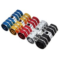 bicycle foot pegs - Hot sale pair Cycling BMX Bike Cylinder Aluminum Alloy Axle Foot Pegs Gold Bike Pedals bicycle parts Cycling Accessories order lt no tr