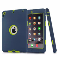 Wholesale New Version Shockproof Heavy Duty Protective Hybrid Case Cover for iPad Mini Safe Stand In Silicone Case Cover
