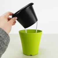 Wholesale Few Watering Porcelain Imitating Multicolor Plastic Flower Pot Cotton Automatic Suction Water