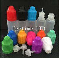 Electronic Cigarette vapor liquid - FEDEX Colorful needle Bottle ml ml ml ml ml Plastic Dropper Bottles CHILD Proof Caps Tips LDPE For E Vapor Cig Liquid Factory