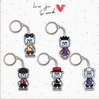 Wholesale 20pcs bigbang member cartoon acrylic keychain keyring