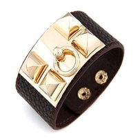 african trade beads - 2016 new fashion Boutique exaggerated metal rivet punk cortical ultra wide Bracelet trade selling jewelry Bracelet