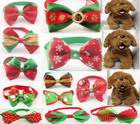 Wholesale 200pcs Christmas Holiday Pet Puppy Dog Cat Bow Ties Cute Neckties Collar Accessories Grooming Supplies P08
