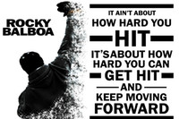 motivational posters - ROCKY BALBOA Motivational Quotes Art Silk Fabric Poster Print X30 inches Movie Pictures DY347