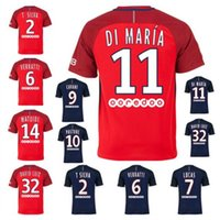Wholesale 2017 DI MARIA Jerseys home blue Away White Red CAVANI VERRATTI BEN ARFA CAVANI PASTORE DAVID LUIZ shirts