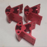 Wholesale red color metal frame mount bottom top frame Bottom Top vertex kit for Delta Rostock kossel k800 D printer aluminum alloy