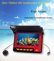 Wholesale 4 quot LCD monitor system Underwater Fish Video Camera Fishing Finder LED TVL HD Monitor M waterproof fish finder