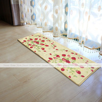 bath mat runner - YAZI Red Strawberry Fabric Kitchen Rug Runner Non Slip Floor Carpet Bath Door Mat x45cm