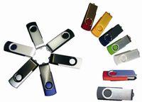 Wholesale 5 Piece No logo Whirl USB Memory Stick USB Stick Rotatable USB Flash drives USB2 Metal U Disk
