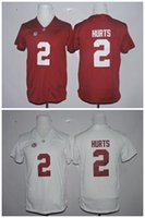 alabama youth - Youth New Style Alabama Crimson Tide Jalen Hurts Limited Football Red White Kids Jersey Size S M L XL