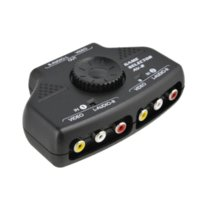 audio output selector - AV Audio Video Switcher Selector Port Input Output Audio Video AV RCA Switcher For XBOX PS2 DVD Camera Black