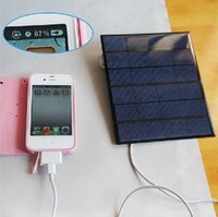 Wholesale 6v w MA Solar Panel USB Travel Battery Charger For Mobile Phone