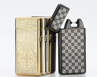 best lighter brand - Brand New Electronic Arc Usb Lighter Cigarette Metal Windproof Rechangeable Lighter for Cigarette Smoking Pipe multiple style best