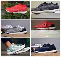 2016 Nuevo estilo Ultra alza los zapatos corrientes uncaged para las mujeres de los hombres, las zapatillas de deporte atléticas del deporte Ultraboost del corte bajo respirable Eur 36-44