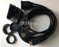 Wholesale 200 piecesWholesalers one point x3 foot board USB HDMI AUX extension panel mounting cable used in cars boats and motorcycles