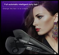 automatic tv - 2016 TV show PRO Full Automatic curling hair machine Curling Irons LCD Display Perm Artifact Tourmaline ceramic Hair tools