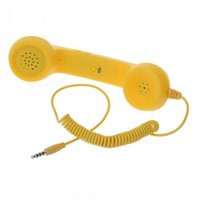 Wholesale 2016 Hot Sale New Anti radiation Retro Telephone Receiver Headphone Handset Earphone for For iPhone Sumsang Blackberry Nokia