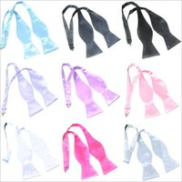 Wholesale 2016 hot male Ms Hand hoists polyester satin bow tie solid color tie gourd bow tie