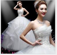 Wholesale Wedding dress Popular elements bra Qi slim slim with a bang beads fold soft thick satin lace net sexy