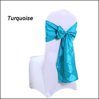 Wholesale Free Ship PC Wedding Navy Chair Sashes quot X108 quot Taffeta Gridding Chair Cover tie Back Sash Bowknot for Marriage Anniversary Celebration