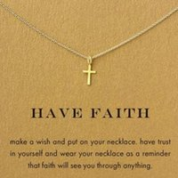 american d - Dogeared Necklace with cross pendant have faith noble and delicate no fade and high quality