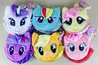anime tote bags - My Little Pony Plush bag Rainbow Pony tote bags Children s coin purses