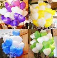 baloon toys - 30pcs Inch Birthday Wedding Supply Heart Balloons Colorful Party Latex Air Baloon Ballon Kids Inflatable Toy