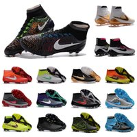 Wholesale new original mens high ankle outdoor football boots Superfly BHN soccer shoes AG FG Magista Obra ACC Superfly soccer cleats
