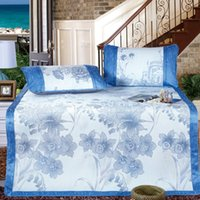 Wholesale in the clouds Blue meters thick ice silk seats three piece folding mat mat meters air conditioning