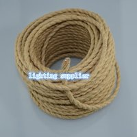 Wholesale m x0 Vintage rope Wire Twisted Cable Retro Braided Electrical Wire Fabric Wire DIY pendant lamp wire vintage lamp cord
