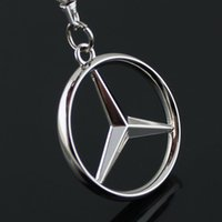 Wholesale Metal Zinc Alloy Key Ring with Car Key Chain D Emblems of BENS Car Logo Keychain