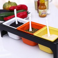 Wholesale set Color Seasoning Pot Spice Rack And Cruet Quality Goods sets