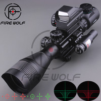 airsoft rifle laser - 2016 NEW X50EG Tactical Rifle Scope with Holographic Reticle Sight Red Laser Combo Airsoft Sight Hunting