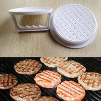 Wholesale Fashion White Plastic Hamburger Meat Beef Grill Burger DIY Press Patty Maker Mold Mould