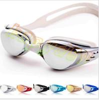Wholesale new adult unisex man electroplating myopia swimming goggles lady swimming anti fog waterproof Myopic goggles eyewear