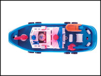 Wholesale 2016 kids Navigation Model Set can move with battery spraying water baby marine rescue boat model