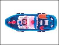 2016 niños Navegación Modelo Set puede moverse con la batería rociando el agua bebé modelo de barco de rescate marina