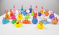 toy duck calls - 2016 kids Rubber water toys toddler baby bath swimming toy yellow ducks Animal BB call sound dolls kids gift