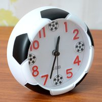 Wholesale Table top gifts desk clock with alarm time table alarm football shape clock home decoration desk clock