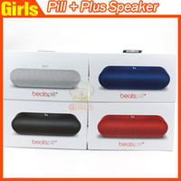 beat portable - Used Beats Wireless Pills plus Speaker Blue black red white Pills pill Portable Bluetooth Speaker from girls headphones AAA quality
