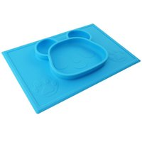 Wholesale Happy Mat Baby MealMat Feeding silicone panda bowl Shatterproof food placemat for school children Meals DHL Free