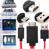 Wholesale Universal Mirco USB MHL to HDMI Cord Cable Line Adapter HD P M ft pin For Samsung Galaxy S3 S4 S5 Note2 Note3