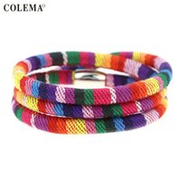 Wholesale Christmas Rope Bracelets - Hot Sale PU Leather Bracelet for Women Fashion Magnetic Clasp Bracelet Wristband Jewelry for Christmas Gift
