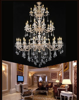 Wholesale spider chandelier antler extra large chandeliers hotel hall large candelabra chandelier restaurant gold crystal chandelier drops